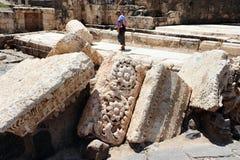 Forntida Beit Shean - Israel royaltyfri bild