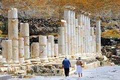 Forntida Beit Shean - Israel arkivfoto