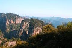 forntida berg zhangjiajie Royaltyfri Foto