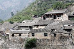 forntida bergby Arkivbild