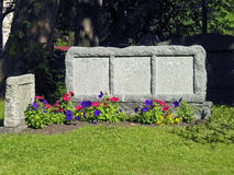 forntida blank tombstone Royaltyfri Fotografi