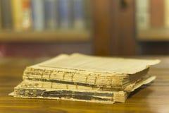 Forntida bok, slut upp Arkivbild