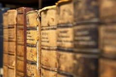 Forntida bokbestånd Arkivbild