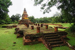 Forntida borttappad stad av Wiang Kum Kam. Fotografering för Bildbyråer