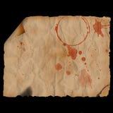 forntida bränt krullat papper Royaltyfri Foto