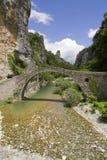 forntida bro greece Royaltyfri Fotografi