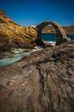 Forntida bro till den lilla ön nära staden av Andros, Andros, Fotografering för Bildbyråer