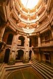 Forntida brunn i Ahmedabad Indien, Gujarat royaltyfria foton