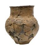 forntida bruten isolerad kruka Fotografering för Bildbyråer