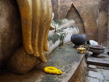 forntida buddha handstaty Royaltyfri Fotografi