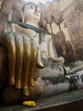 forntida buddha handstaty Arkivfoton