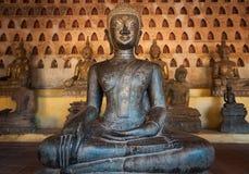 Forntida Buddha i Vientiane, Laos Arkivfoto