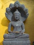 forntida buddha skulptur Arkivbilder