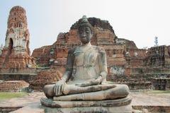 forntida buddha staty Arkivfoto