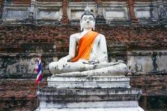 Forntida buddha staty i Ayutthaya, Thailand Royaltyfria Foton