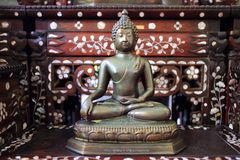 Forntida Buddha statyer Arkivfoto