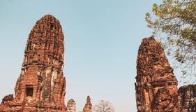 Forntida buddha tempel i Bangkok, Thailand arkivfoto