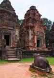 Forntida buddistisk en khmertempel Arkivbilder