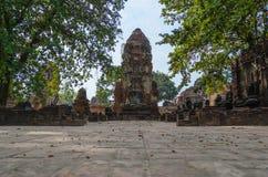 Forntida buddistisk tempel Arkivfoton