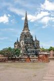 Forntida buddistisk tempel i Ayutthaya thailand Royaltyfri Bild