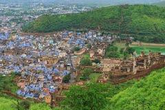 Forntida bundifort och slott Indien Arkivbild
