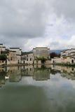 Forntida byar i sydliga Anhui, Kina Arkivfoton