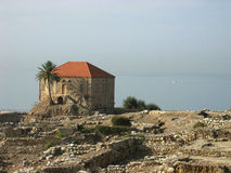 forntida byblosstad lebanon Royaltyfri Fotografi