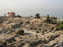 forntida byblosstad lebanon arkivbild