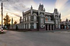 Forntida byggnad av dramateatern, Dimitrovgrad, Ulyanovsk region, Ryssland Arkivbilder