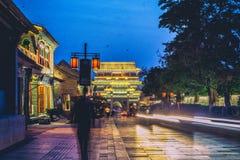 Forntida byggnad i den gamla staden, Kina Royaltyfria Foton