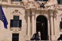 Forntida byggnad i Malta Arkivbild