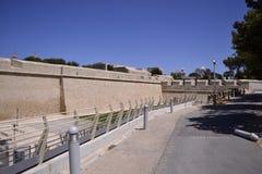 Forntida byggnad i Malta Fotografering för Bildbyråer