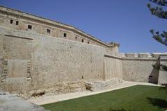Forntida byggnad i Malta Arkivbilder