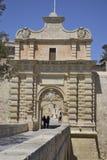 Forntida byggnad i Malta Arkivfoton