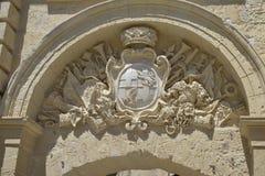 Forntida byggnad i Malta Royaltyfri Foto