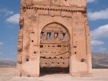 Forntida byggnad i Marocko Fotografering för Bildbyråer
