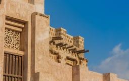 Forntida byggnad i Sharjah Arkivfoton