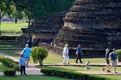 Forntida byggnad på den historiska staden av Sukhothai Royaltyfri Bild