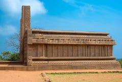 Forntida byggnaden i Indien, en UNESCOvärldsarv Royaltyfri Foto