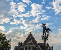 Forntida byggnader i herren, Belgien arkivbild