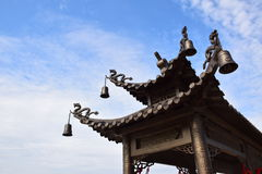 Forntida byggnader i Kina Arkivbilder