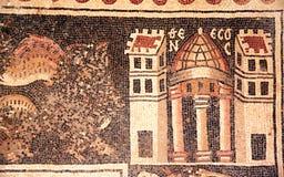 Forntida byzantine naturliga stentegelplattamosaiker, Umm ar-Rasas, Jord arkivfoto