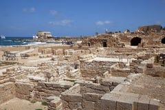 Forntida Caesarea. Israel fotografering för bildbyråer