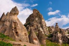 forntida cappadociagrottastad Arkivbilder