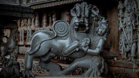 forntida carvings royaltyfri bild