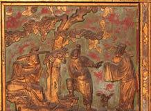 forntida carvings royaltyfri fotografi