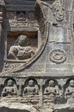 forntida carvingsklosterbroderrock Arkivfoton