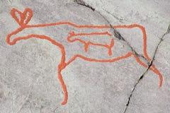 forntida carvingsrock Royaltyfri Foto