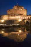 Forntida Castel Sant ' Angelo, Rome, Italien Arkivbilder
