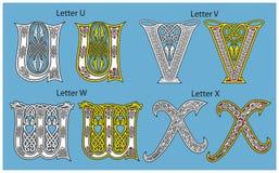 forntida celtic för alfabet Arkivbild